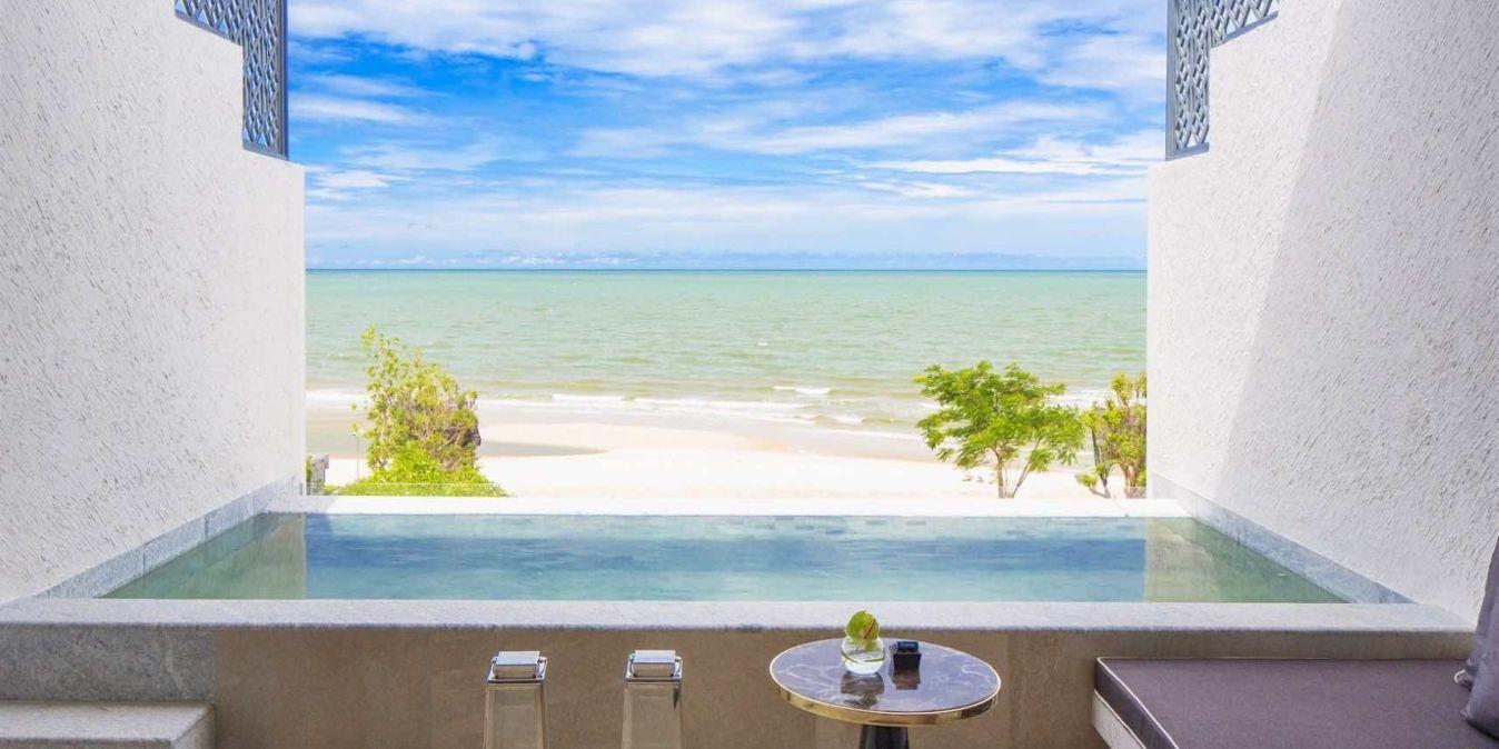 Sur une plage de rêve de Hua Hin.