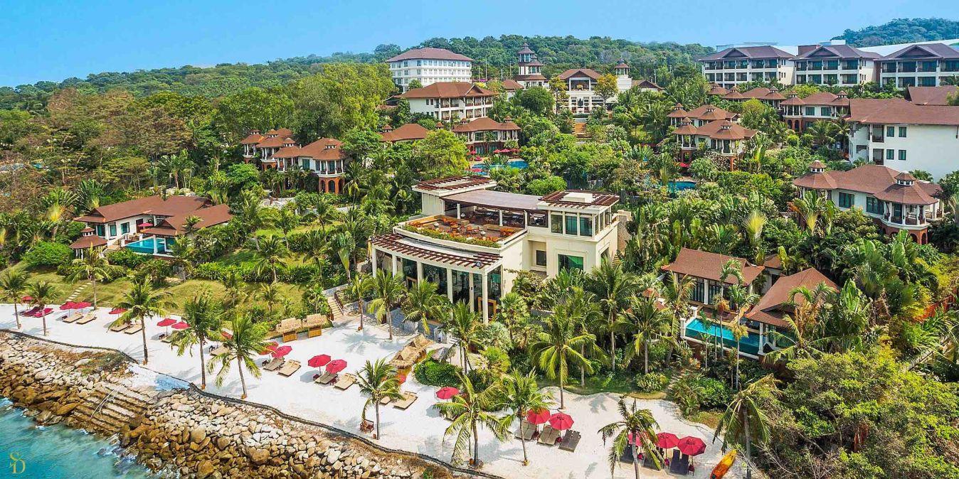 Le The Monttra Pattaya Resort vu d'en haut.