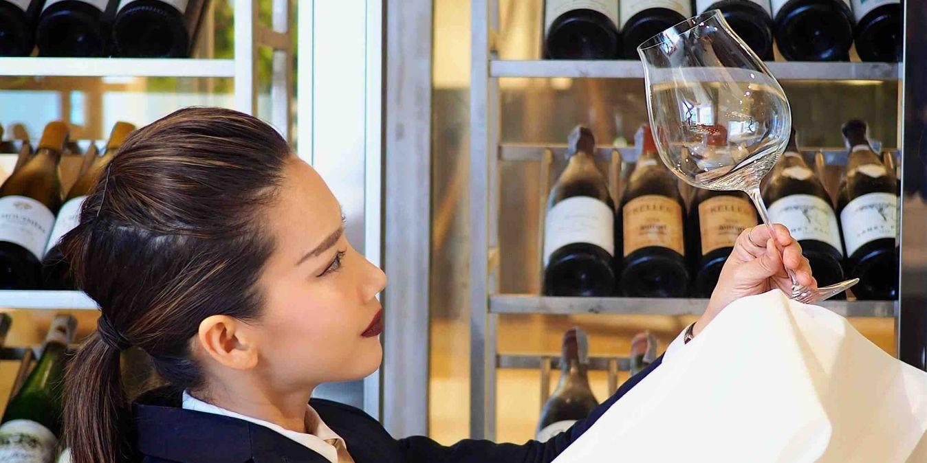 Sélection de vins exquis à Bangkok, Thaïlande.