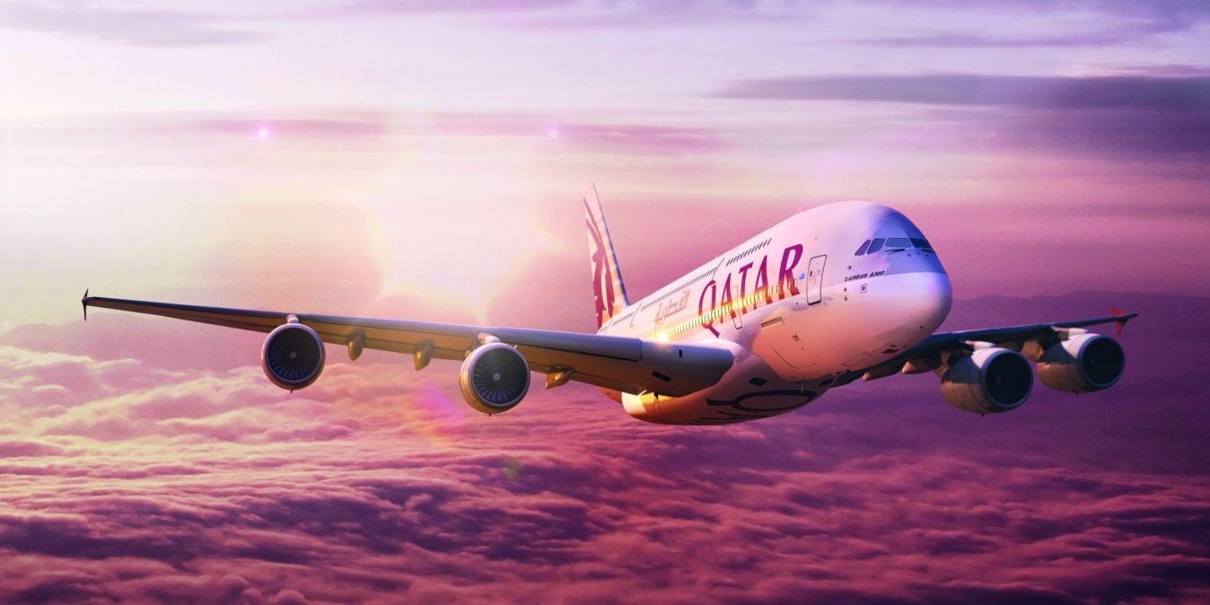 Avion de Quatar Airways.