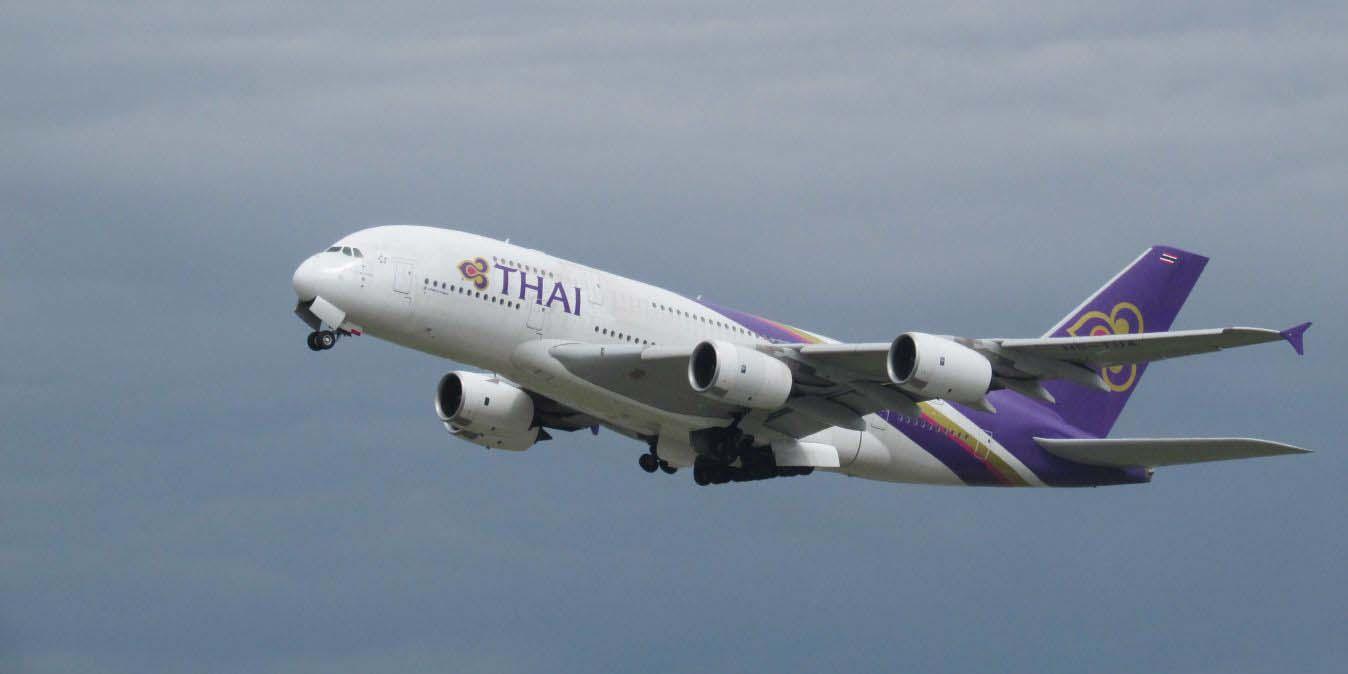 Avion de Thai Airways.