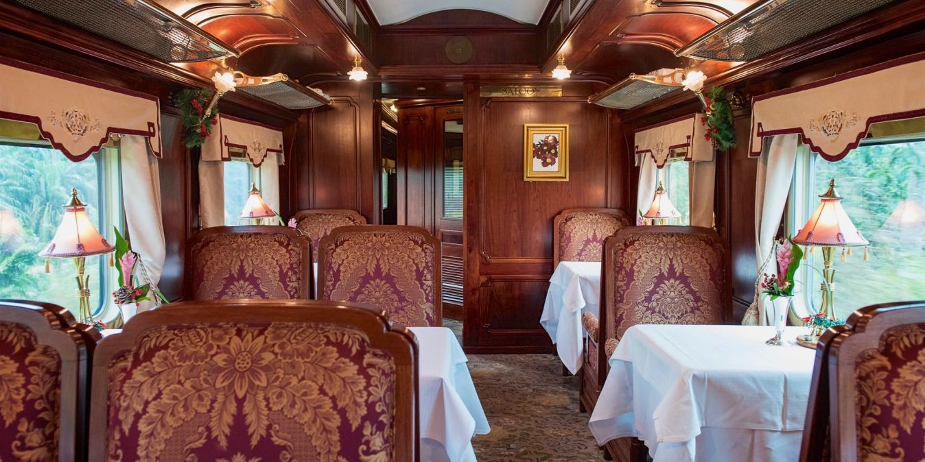 Wagon restaurant de l'Eastern Oriental Express