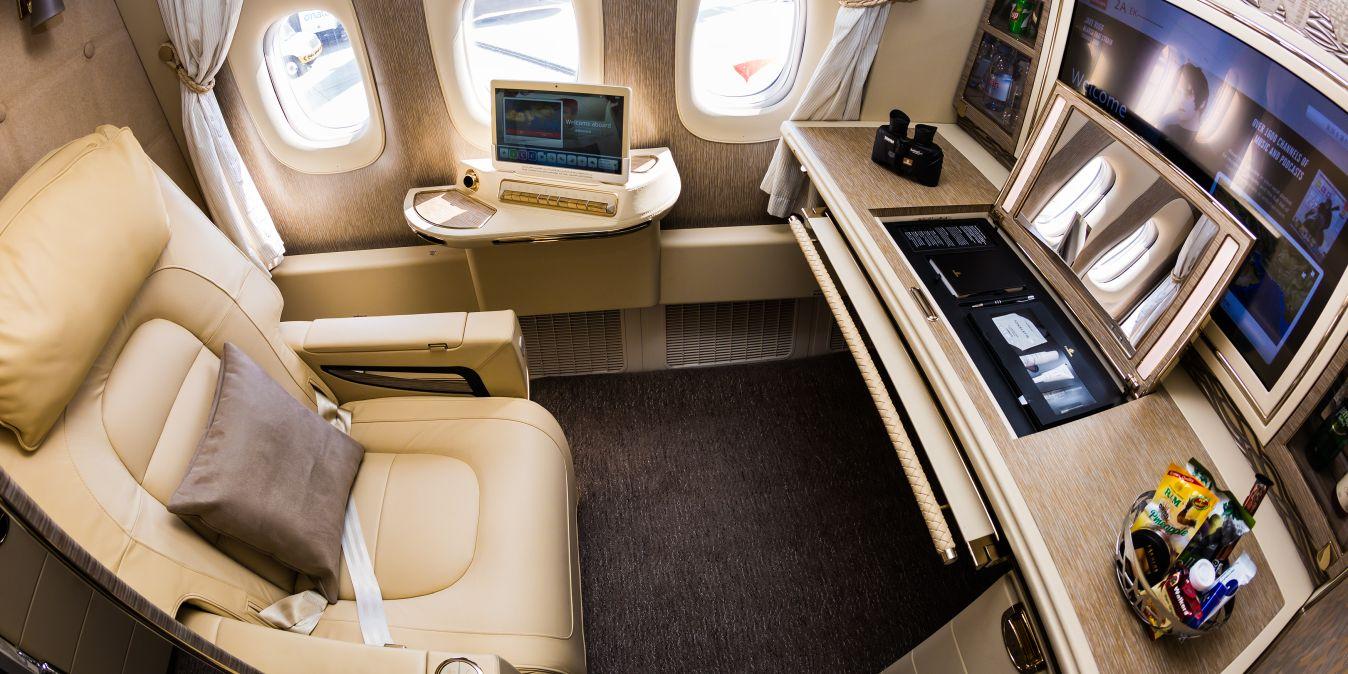 Emirates vols exclusifs première classe Thailande.